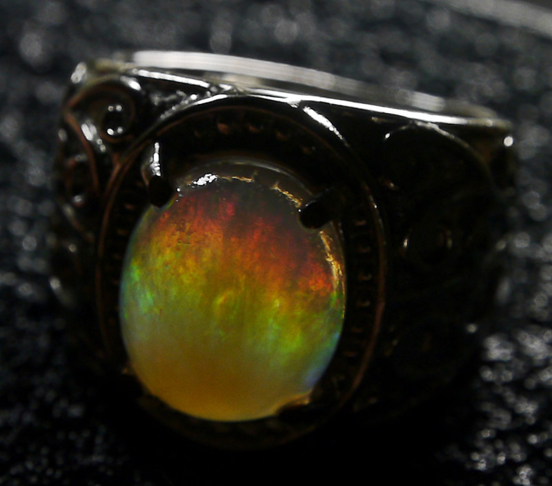 35.30 CT Dark Crystal Contaluz Indonesian Opal Jewelry