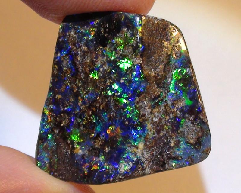 16.45 ct Stunning Boulder Opal With Gem Multi Color