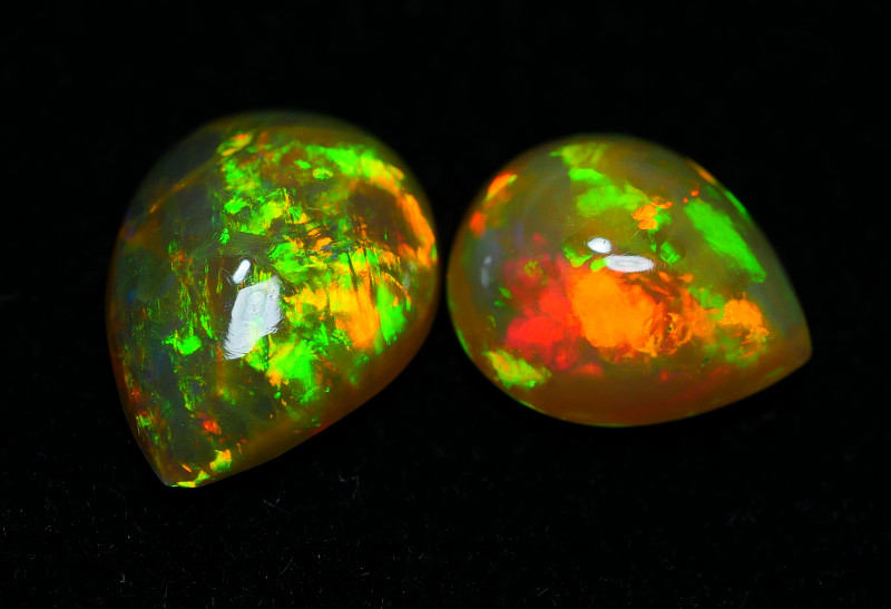 1.70 CRT BRILLIANT 2 PCS PARCELS BEAUTY MULTICOLOR WELO OPAL-