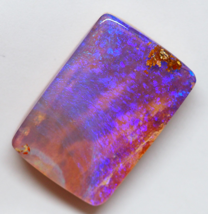 24.50CT SMALL BRIGHT BOULDER PIPE OPAL  AA255