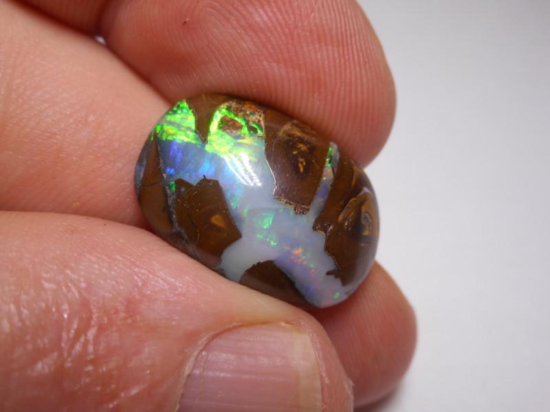 12.9ct Double sided Boulder Opal Polished Specimen (Crack)