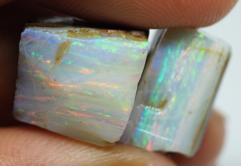 24.15CT ROUGH PAIR QUEENSLAND BOULDER OPAL  PJ77