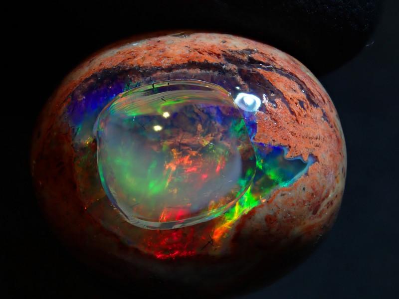 15.38ct Mexican Matrix Cantera Multicoloured Fire Opal Specimen