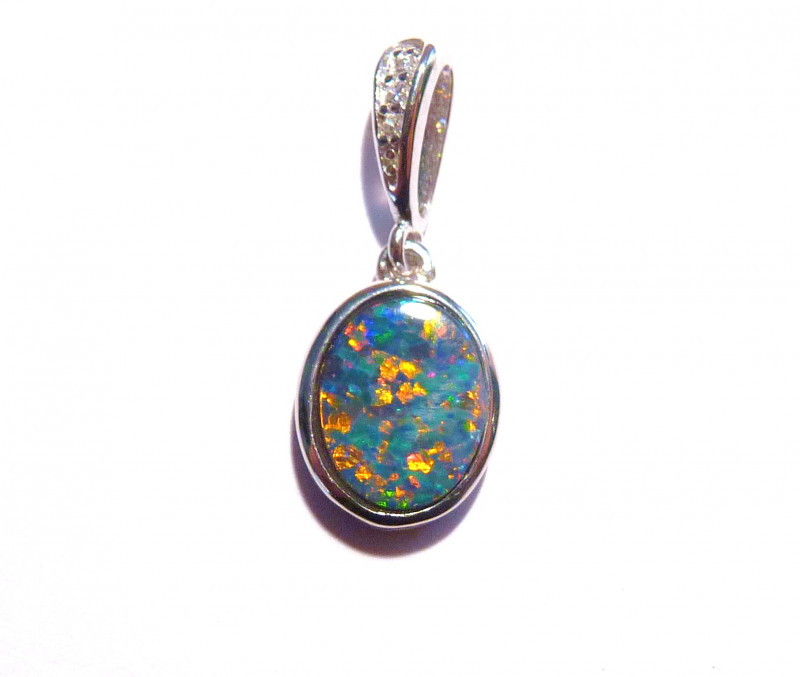 Pre Easter SALE was US$185 Stunning Multicolour Doublet Australian Opal and