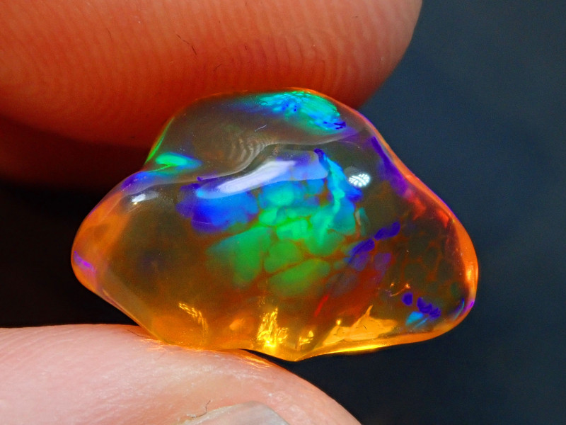4.35ct  Mexican Honeycomb Solid Fire Opal