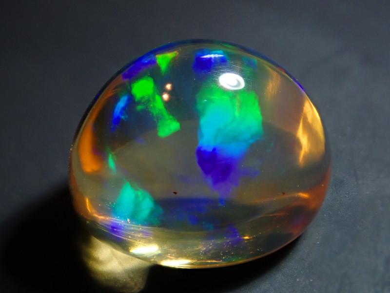7.25ct Mexican  Indigo Blue Highdome  Multicoloured Fire Opal