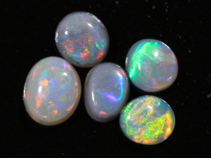 0.85ct -THE FAMOUS FIVE-Lightning Ridge Opal Parcel [21037]