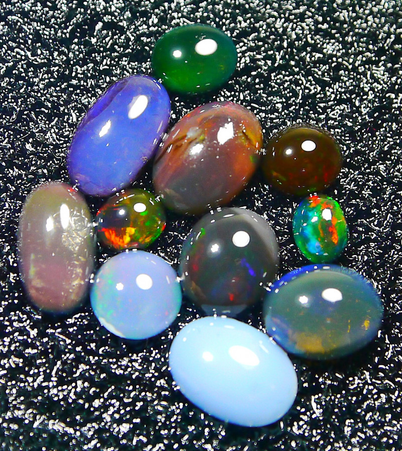UNTREATED Mix Indonesian Opal Parcel Polished 7.70 CT