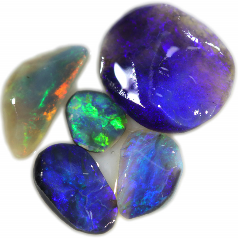 13.30 CTS  BLACK OPAL ROUGH PARCEL FROM LIGHTING RIDGE[BR6738]