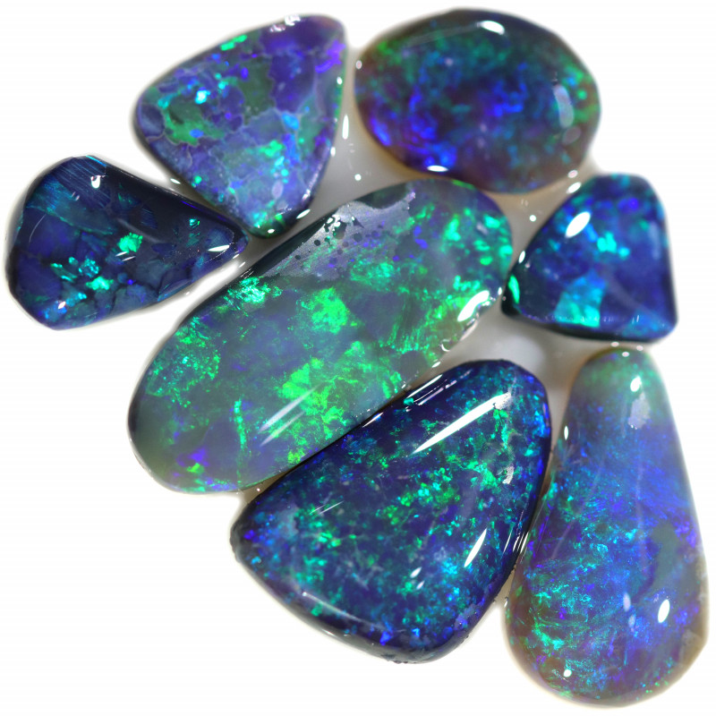 15.18 CTS  BLACK OPAL ROUGH PARCEL FROM LIGHTING RIDGE[BR6739]