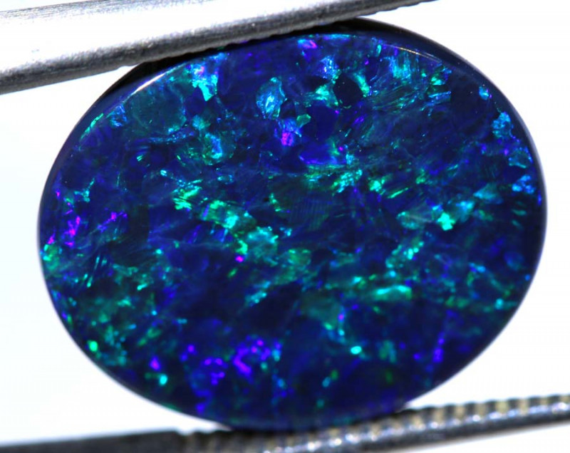 N1 -5.70 CTS QUALITY BLACK OPAL POLISHED STONE INV-1155