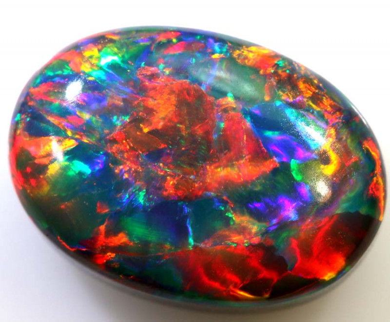N1 - 5.24CTS QUALITY RED ON BLACK OPAL STONE INV-