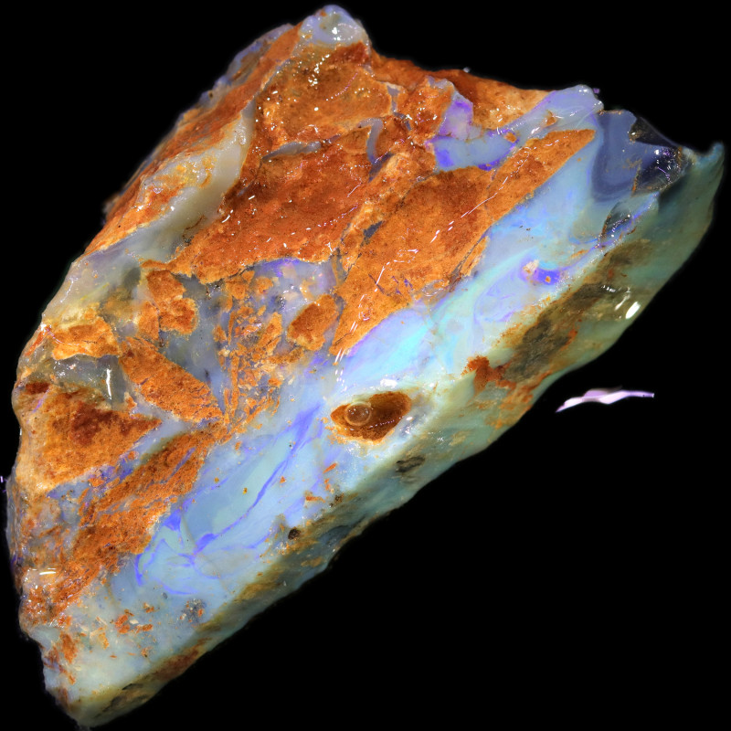 354.30 CTS GAMBLE ROUGH   WITH OPAL DIRT ATTACHED [BRP128]