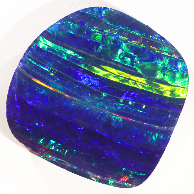 27.88 CTS   GREAT SIZE OPAL DOUBLET TOP FLASHES OF COLOUR S1133