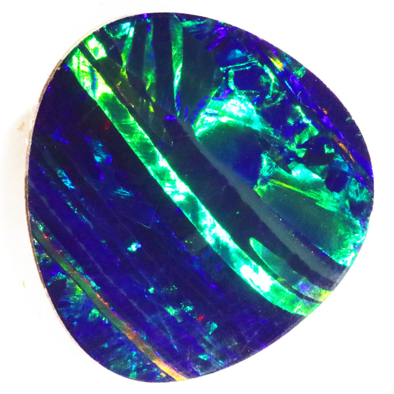 6.14 CTS   GREAT SIZE OPAL DOUBLET TOP FLASHES OF COLOUR S1138