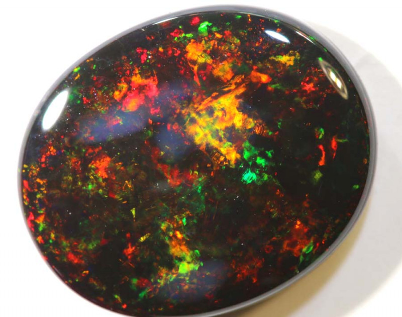 N1 -6.17 CTS QUALITY BLACK OPAL POLISHED STONE INV-1177
