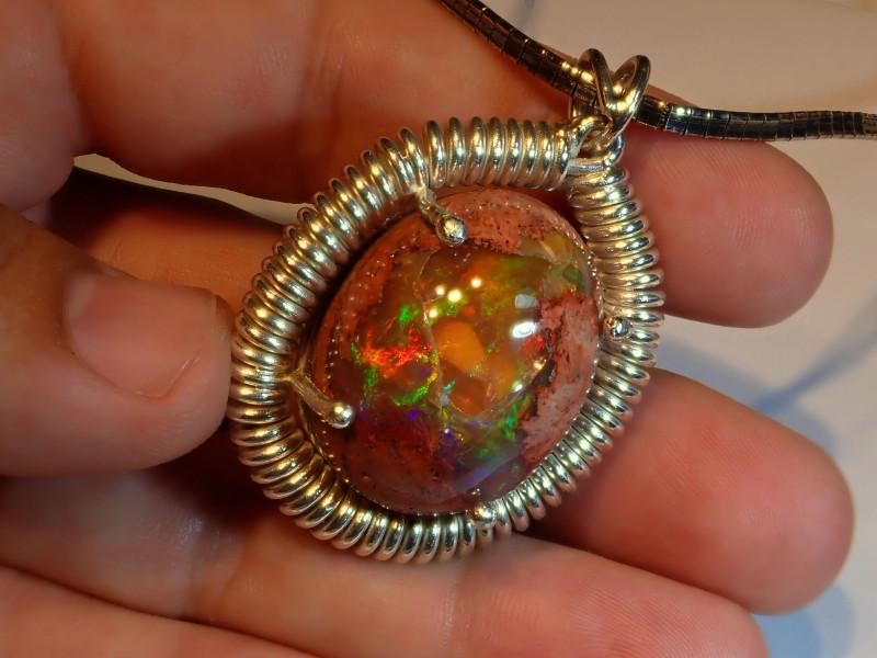 100ct Mexican Matrix Cantera Multicoloured Fire Opal