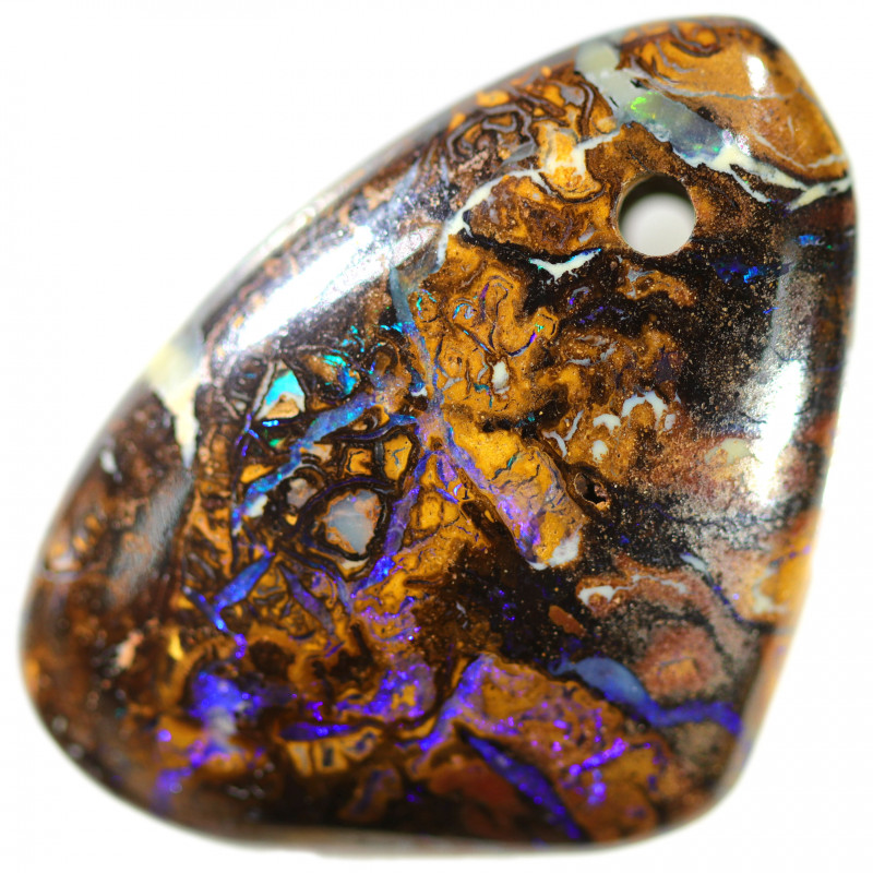 36.95 CTS DRILLED YOWAH STONES TOP POLISHED [MS8218]A