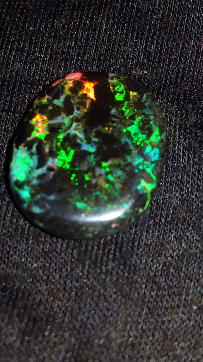 10.00 CRTBROAD FLASH COLOR PATTERN INDONESIAN OPAL WOOD FOSSIL