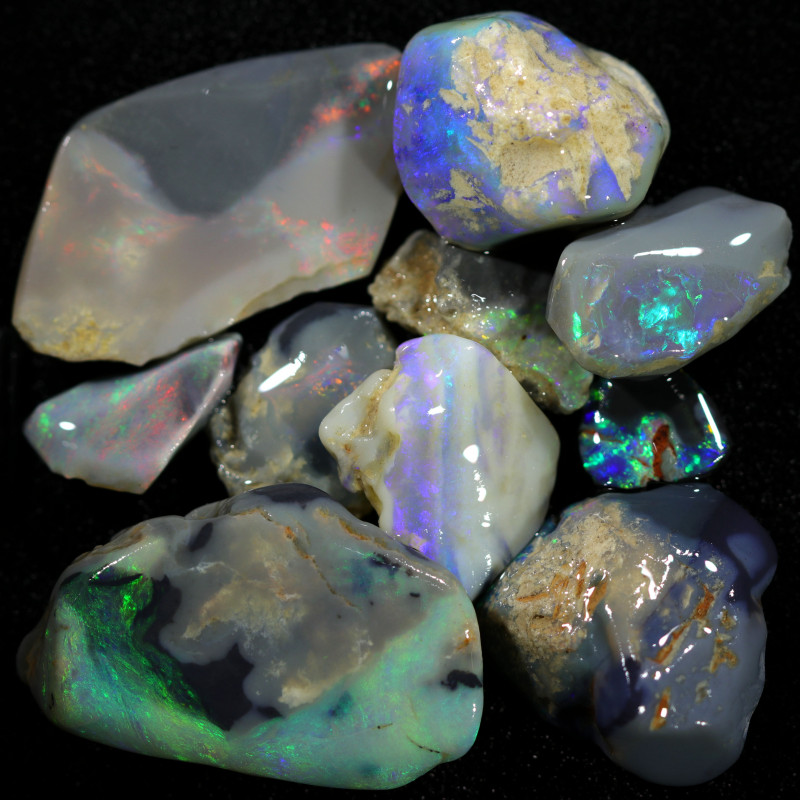 3580.00 CTS COLOURFUL OPAL ROUGH MINE RUN FROM LIGHTNING RIDGE[BRP156]