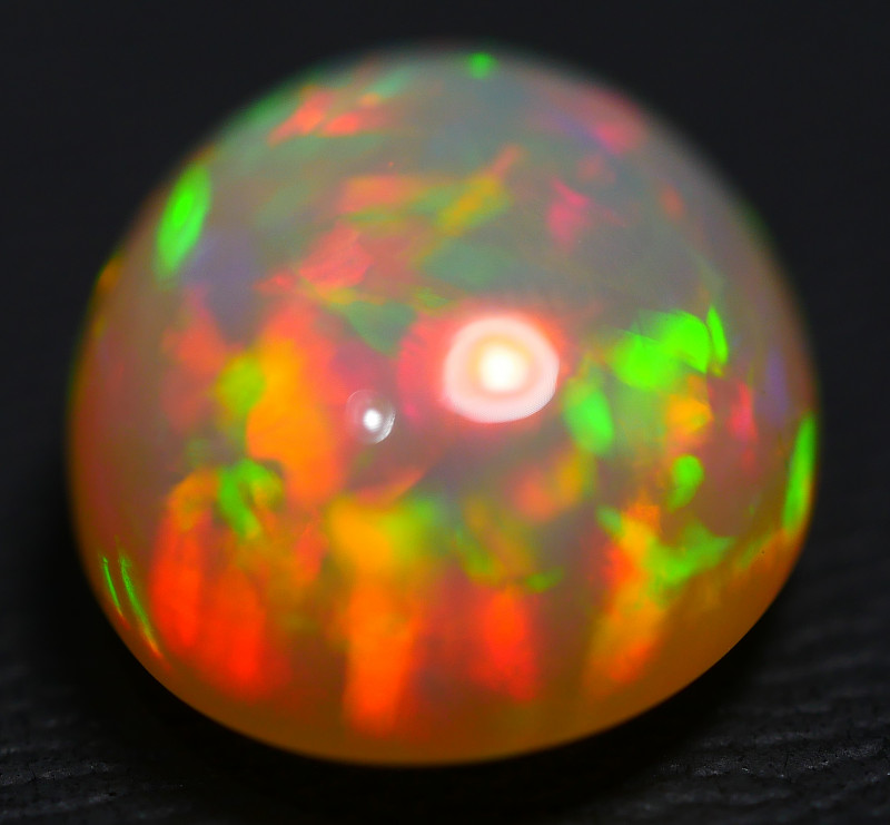 7.00 CRT DRAK CRYSTAL RED FLOWER PATTERN PLAY COLOR WELO OPAL-