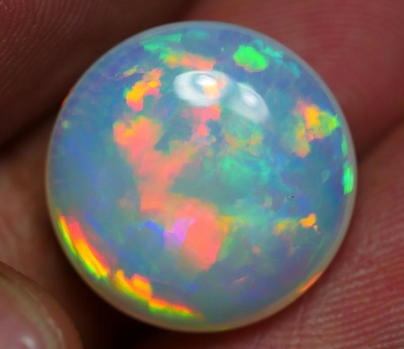7.50 CRT GOREGOUS ROUND PRISM FLOWER PATTERN MULTICOLOR WELO OPAL-
