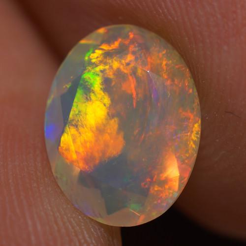 1.40 CT AAA Quality Faceted Cut Ethiopian Opal-BAF468