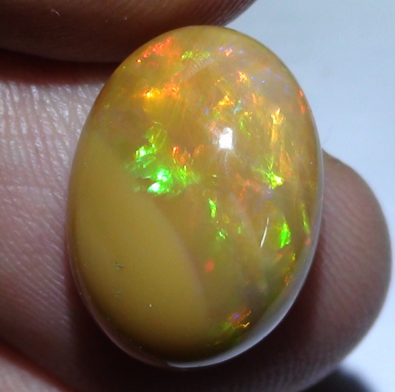 6.55 ct Ethiopian Beautiful Multi Color Welo Opal Cab  M354