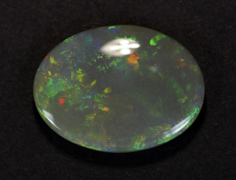 7.7ct Mintabie Semi-Black Crystal Solid Opal - 7.7 ct - Polished Australian