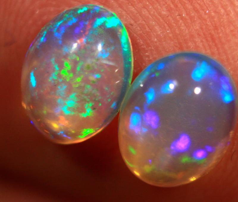 Ct. 1. 60  FC 787    Ethiopian Wello Opals * Pair *