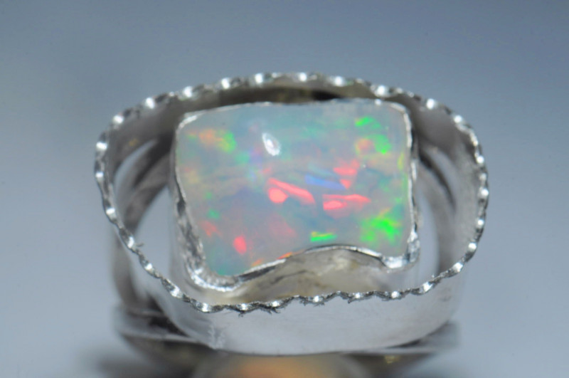 7.75SZ Blazing Welo Solid Opal / Sterling Silver Quality