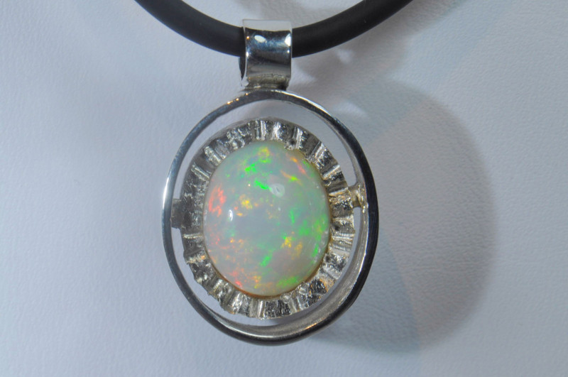 Blazing Welo Solid Opal / Solid Pendant Sterling Silver Quality