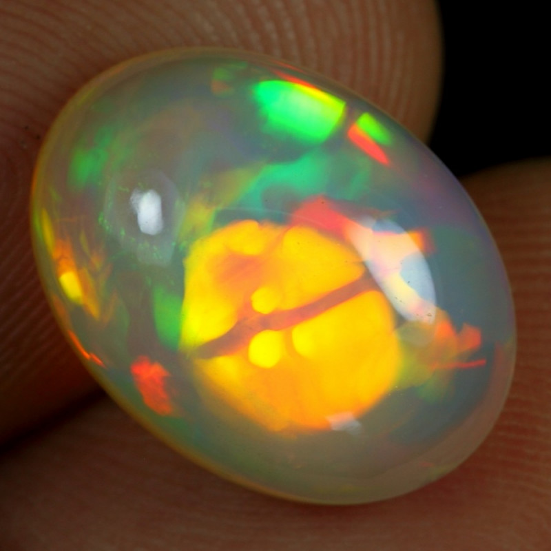 Video - 5.65cts 3D Flagstone Pattern Natural Ethiopian Welo Opal