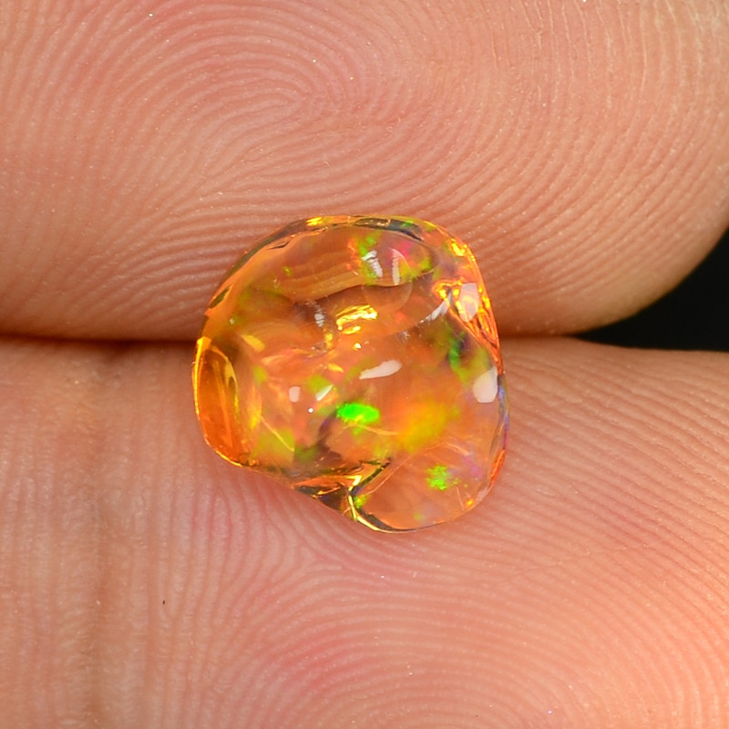 1.73 CTS World Very Rare Natural Mexican Fire Opal Loose Gemstones