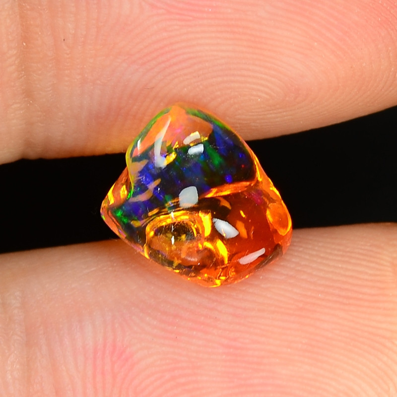 1.55 CTS World Very Rare Natural Mexican Fire Opal Loose Gemstones