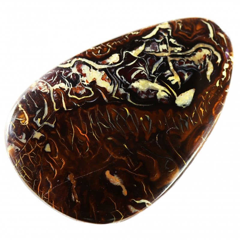 95.85 CTS CHOCOLATE IRONSTONE WITH WHITE OPAL[MS8254]A