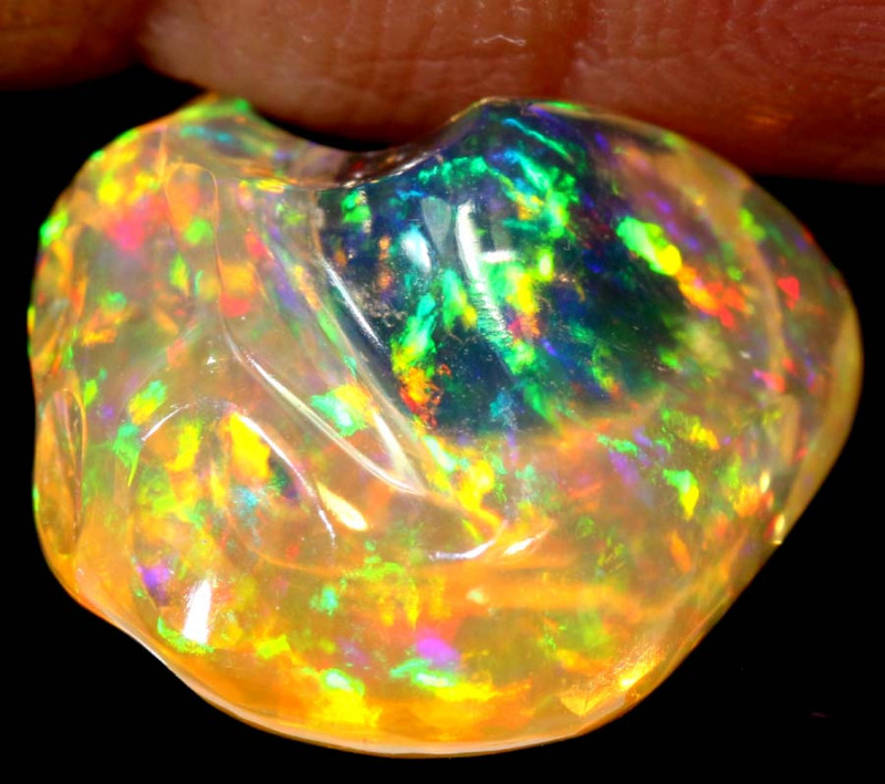 3.25 CTS MEXICAN FIRE OPAL STONE   FOB-1849