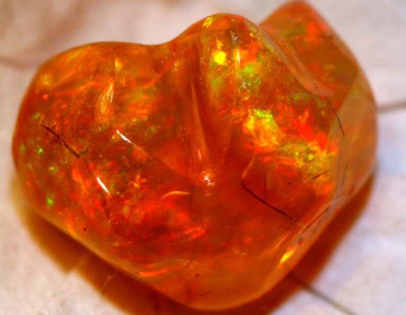 7.5 CTS MEXICAN FIRE OPAL STONE   FOB-1869