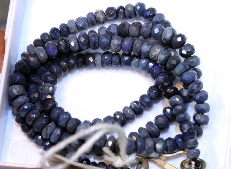 42 CTS BLACK OPAL FACETED BEADS STRAND TBO-8886
