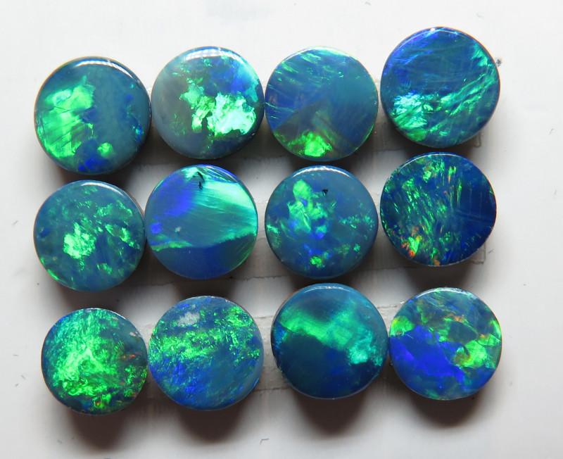 4.5 mm  12 Stone Australian Doublet Opal Parcel