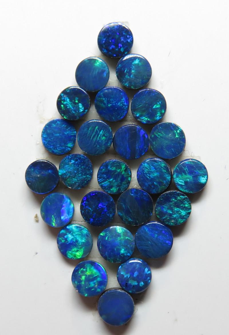 3.5 mm  25 Stone Australian Doublet Opal Parcel