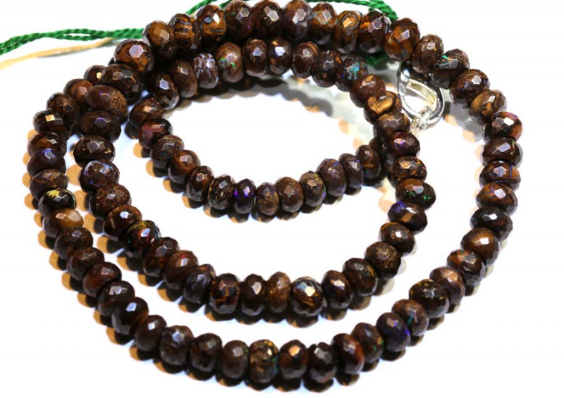 129 CTS YOWAH OPAL FACETED BEAD STRAND TBO-8905