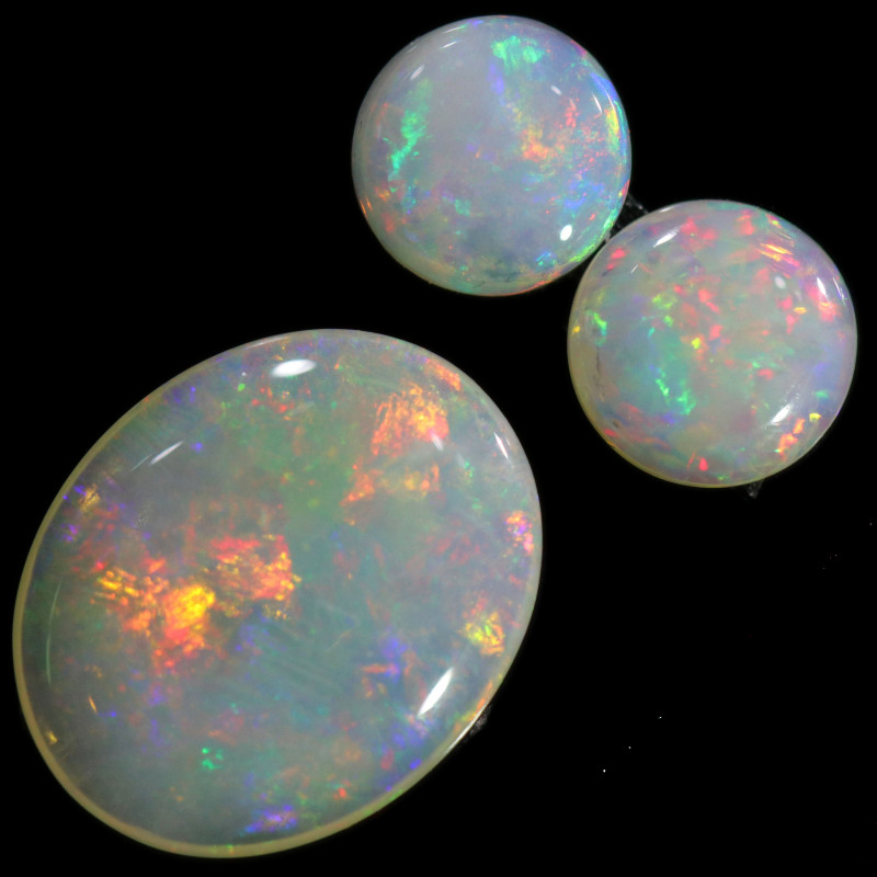 2.15 CTS CRYSTAL OPAL SET 3 FROM COOBER PEDY[SEDA2103]