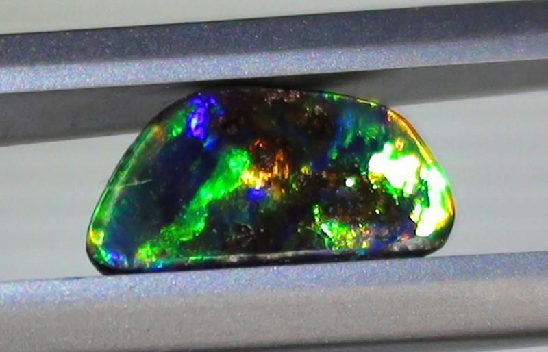 0.90 ct Stunning Gem Multi Color Queensland Boulder Opal
