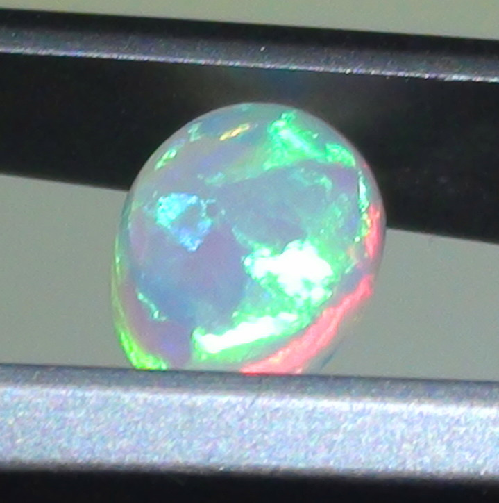 0.60 ct Multi Color Solid Coober Pedy Crystal Opal