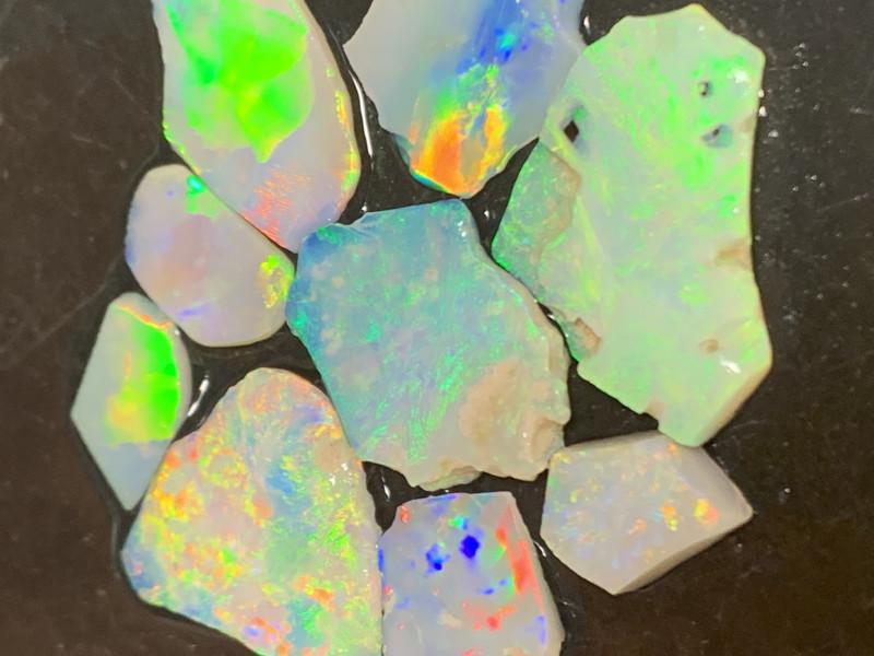 22 Cts High End White Cliffs Rough Opals,#422