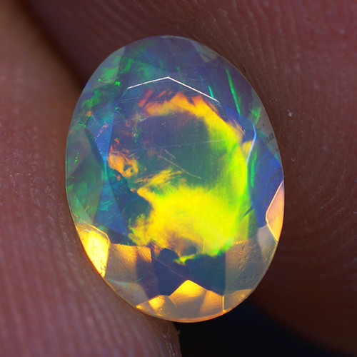 0.57 CT 8X6 MM Good Quality Faceted Cut Ethiopian Opal-EBF381