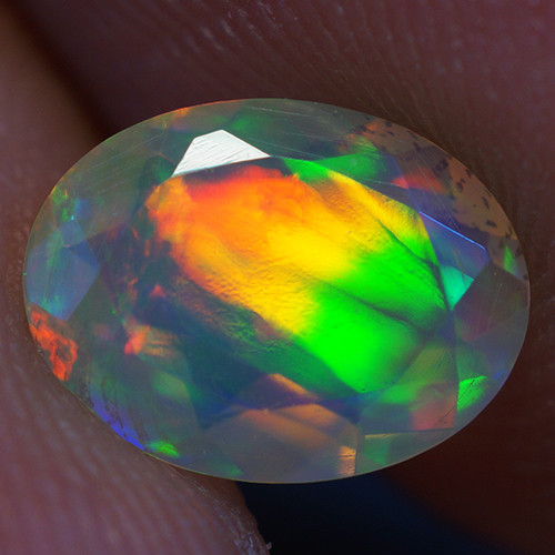 0.63 CT 8X6 MM Good Quality Faceted Cut Ethiopian Opal-EBF382