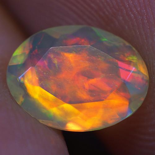 0.67 CT 8X6 MM Good Quality Faceted Cut Ethiopian Opal-EBF383