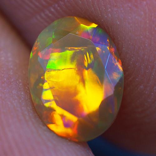 0.70 CT 8X6 MM Good Quality Faceted Cut Ethiopian Opal-EBF384